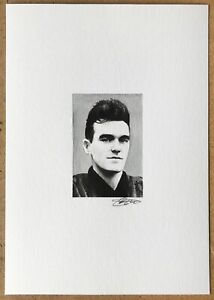 ORIGINAL MORRISSEY THE SMITHS PAINTING WATERCOLOUR ART A5 8.3 x 5.8inch