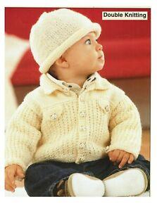Baby Boy Jacket & Hat knitting pattern in DK. Baby boy cardigan,