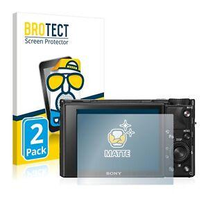 2x Display Schutz Folie für Sony Cyber-Shot DSC-RX100 VII Matt Entspiegelt