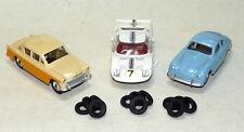 DO16/012 - Lot de 12 pneus noirs striés 15/8 noirs striés pour Dinky Toys GB