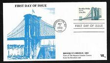 #2041 20c Brooklyn Bridge - Brooklyn Tower Cachet - Jim Agrian FDC