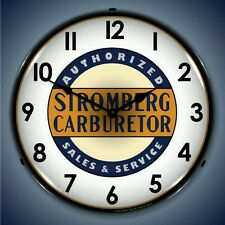 New Stromberg Carburetor Sales & Service lighted advertising clock USA Made