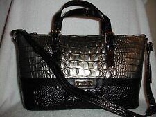 NWT BRAHMIN J55 857 400 Mini Asher Mystic 00220 Genuine Leather Satchel Bag