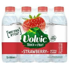 Volvic Touch of Fruit Strawberry Natural Flavoured Water Low sugar 12 x 500ml