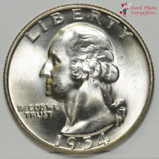 uncirculated          L152 1954 P Washington Silver Quarter