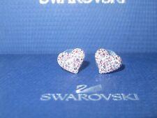 """GENUINE Swan Signed SWAROVSKI """"Alana"""" Light Rose Heart Earrings - #993487"""