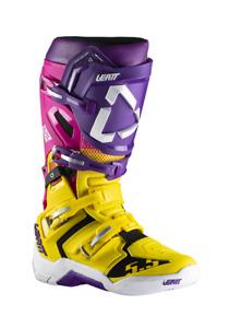 Leatt 5.5 Flexlock Motocross OffRoad Race Boots United Multi Pink Yellow Adults