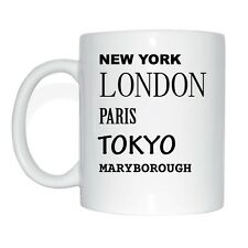 New York, Londres, Paris, Tokyo, Maryborough Tasse à Café