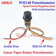100k B100k Ohm Linear Taper Rotary Potentiometer 100kb Pot Knob On Off Switch