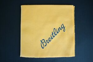 BREITLING JEWELER WATCH SALES DEMONSTRATION YELLOW PROTECTIVE POLISHING CLOTH A