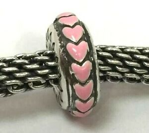 Brighton Marty Thin Stopper Bead J94563 , Pink, Silver Finish, New
