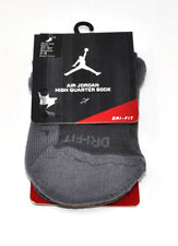 NIKE Air Jordan High Quarter Socks Grey/Grey Men's 6-8 Women's 6-10