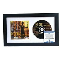 Ice Cube Signed Autographed War & Peace Framed CD Compact Disc Cover Beckett BAS