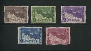 1927 Belgium Semi-Postal Stamp #B64-B68 Mint Hinged F/VF Original Gum