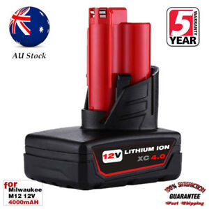 For Milwaukee M12 48-11-2460 12 Volt Lithium XC 4.0AH Extended Capacity Battery