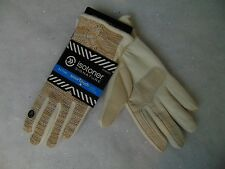 Isotoner Smart Touch Marbled Cable Knit Gloves Thermaflex Lining Ivory M/L #C128