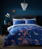 Luxury Akari Navy Duvet Set 3 PCs Duvet/Quilt Cover Set Bedding Set Bed Set