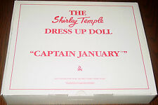 Shirley Temple Dress Up Doll Outfit CAPTAIN JANUARY   MIB  Danbury Mint