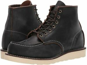Red Wing Heritage 8849 6-Inch Classic Moc Toe Men's Boots US 9 D Black Prairie