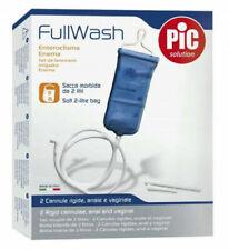 ENTEROCLISMA PIC DA VIAGGIO FULLWASH clistere iniziale kit con sacca 2 LITRI