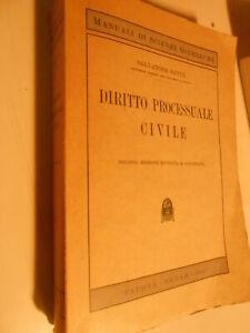 LIBRO: -DIRITTO PROCESSUALE CIVILE - S.SATTA - CEDAM 1950