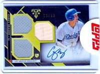 2016 Topps Triple Threads Corey Seager RC Autograph Factory On Card AUTO 25/35!