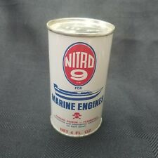 NITRO 9 for MARINE ENGINES GREAT CONDITION Vintage Antique Oil Grease Can
