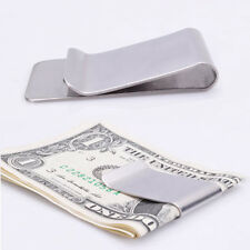Practical Ulitra Thin High Quality Stainless Steel Money Clip Credit Card Holder