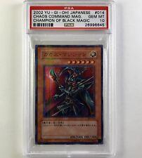 2002 Yugioh PSA GEM MINT 10 OCG Chaos Command Magician 303-014 Parallel Ultra