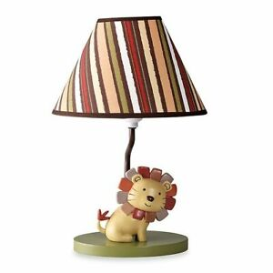 CoCaLo NALI JUNGLE Lamp Base & Shade Boy's Neutral Nursery Room Decor Lion King