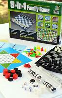 8 Board Games in 1 Chess Checkers Backgammon Chinese Checkers Reversi and more..