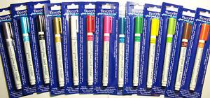 DecoArt Glass Paint Pen Marker Pick from 11 colors - Fine Tip Dishwasher Safe