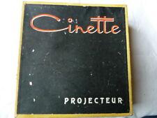 """PROJECTEUR JOUET """" CINETTE modéle B16"""" - 16 mm - Circa 1950 / 1960 avec films"""