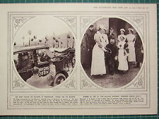 1915 WWI WW1 PRINT ~ KING VISITING SOLDIERS AT WINCHESTER ~ BANDSMAN V.C RENDLE