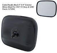 "1947-1972 Chevy & GMC Truck 6"" X 8"" Black Exterior Rear View Mirror Head"