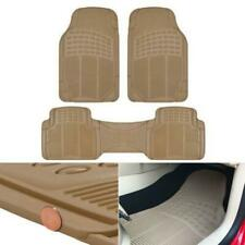 Car Floor Mats for All Weather Heavy Duty Trimmable Beige 3PC 10.14 lbs