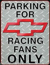 Parking for Chevy Chevrolet Racing Fancy Only Garage Metal Tin Sign  1078 New