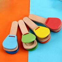 Baby Kids Wooden Castanets Musical Educational Instrument Early Education