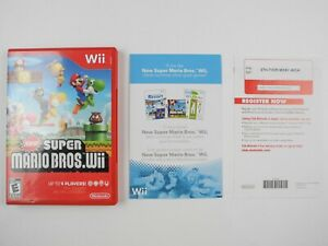 #1 *No Game Or Manual* New Super Mario Bros. Wii Genuine Nintendo Wii Case Only