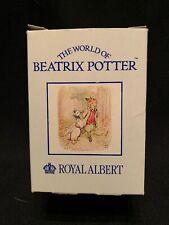 Beatrix Potter Beswick Porcelain Figurine Hunca Munca Rabbits in Bed  New in Box