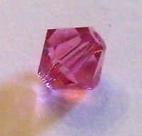 Swarovski bicone Austrian crystal beads faceted Rose pink choose package size