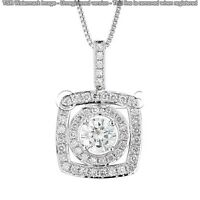 1.62 ct FANCY Off White Yellow Real Moissanite .925 Sterling Silver Pendant I01