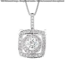 1.62 ct FANCY Off White Yellow Real Moissanite .925 Sterling Silver Pendant I11