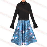 New Ted Baker KALINAA Wonderland Knitted Bodice Dress Black