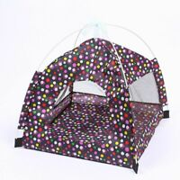 Pet Bed Tent Foldable Dog House Cat Kennel Indoor Portable Travel Puppy Mat New