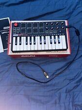 Akai Mini mkIi 25 Keys Keyboard Synthesizer - lightly used
