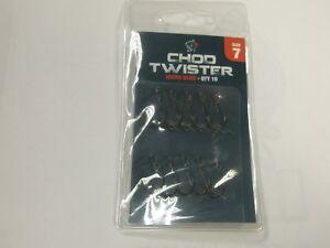 Nash Chod Twister Hooks 10pk ALL VARIETIES Carp fishing tackle