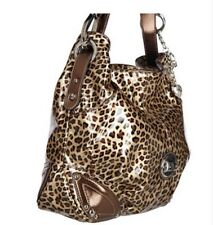 NWT Kathy Van Zeeland Patent Triple Compartment Hobo Bag - LEOPARD