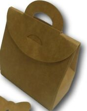 1 MEDIUM KRAFT BOX BAG ,WEDDING CAKE  FAVOUR,HEN GIFT