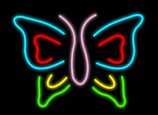 Butterfly Neon Sign Acrylic Glass Decor Display Light Lamp Artwork With Dimmer